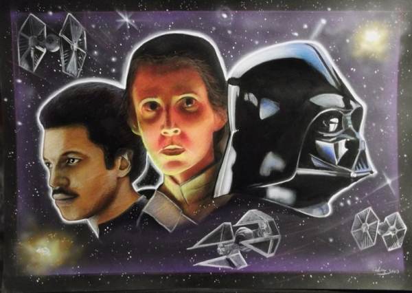 David Prowse, Billy Dee Williams, Carrie Fisher por stephane14